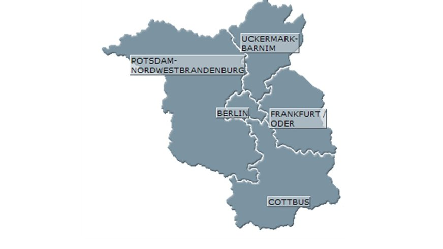 Bezirke Berlin-Brandenburg