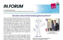 ver.di-IN.FORUM 02 / 2016 der BG SenStadtUm